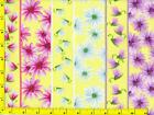 Bright Daisy  Dragonfly on Yellow Stripes Fat Quarter CFLYEL02260