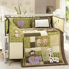 Safari Crib Baby Bedding 4 Pc Set Quilt + Bumper + Fitted Sheet + Pillow Cover