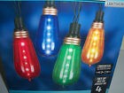 New String of 4 New LED Light Show Edison Bulb Colored Lights