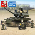 Sluban B9800 Army K9 Tank Motorcycle Minifigures Enlighten Building Blocks Toy