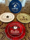 SAKURA Set of 3 Round Plates COFFEE BREAK  Stoneware Dessert Espresso Appetizer