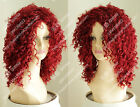 Free shipping  Wine red fashion fluffy air volume wigs Small curl hair wigs ball