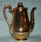 Vintage Hall Golden Glo mini-Coffee Pot/Server, 22 carat Gold, 1950's