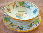 VTG CREAM SOUP Cup Bowl Saucer Old Ivory Syracuse China O.P.Co. Shalimar Birds