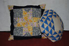 lot #3 2 vintage quilt block pillows