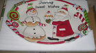 NEW Fitz and Floyd Cookie Tray  Christmas Confections Sharing Sweet NIB