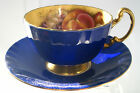 BEAUTIFUL, VINTAGE AYNSLEY  CUP AND  SAUCER ENGLAND ORCHARD BLUE, RARE BEAUTIFUL