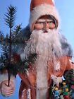 Large 28,2 Paper Mache*German Santa* candy container  by Paul Turner