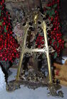 WONDERFUL OLD LARGE VICTORIAN STYLE ROCOCO BRONZE TABLE EASEL FOR PAINTING ART