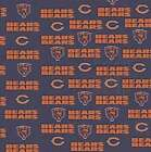 NFL NAVY CHICAGO BEARS COTTON FABRIC MATERIAL, From Fabric Traditions NEW