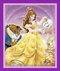 DISNEY BEAUTY & THE BEAST FABRIC PANEL MATERIAL, Purple From Springs Creative