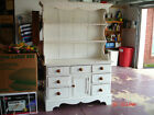 1920's Vintage White Original Painted Hutch Shelves and drawers cubbard