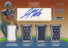 2010 * GOLDEN TATE * #D 30!! ROOKIE QUAD JERSEY AUTO! LIONS SEAHAWKS TOPPS PRIME