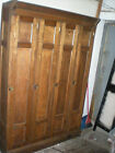 Large Antique Oak Locker 1800's Locker from Saline, Michigan