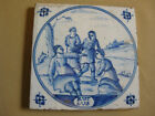 ANTIQUE DUTCH DELFT BIBLICAL TILE