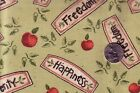 2.1 Yards Apple Tree Allover  Words From Daisy Kingdom 100% Cotton   Sewing OOP
