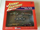 Johnny Lightning~Exclusive 5-Car Value Park~DieCast~1:64 Scale Multi Color~New