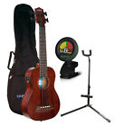 Kala Rumbler U BASS Fretted Satin Acoustic Electric Uke Bundle w BagStand