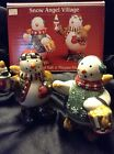 Debbie Mumm  SNOW ANGEL VILLAGE SALT  & PEPPER SHAKERS