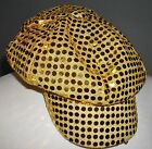 Gold Sparkly Sequins Cap Newsboy, NEW, One Size