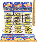 Vintage 1997 Hot Wheels Ford Mustang Mach 1 Yellow Lot 24 Cars Mattel NOC