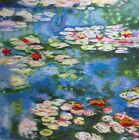 Chinese handmade silk embroidery art painting Water Lilies Claude Monet repro