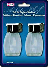 Salt  Pepper Shakers Set Glass Flip Top Moisture Tools  Gadgets Free Ship