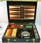 1930 Pattberg Game Case Backgammon Roulette Cribbage Dominos Checkers BAKELITE