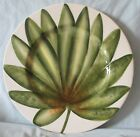 Fitz and Floyd In Bloom Dinner or Buffet Plate Green Leaf Pattern