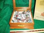 Mr Christmas Lighted Cannonball Express Moving Trains Music Box MIB