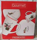 Fitz & Floyd Holiday Merry Christmas Plate and Mug set of 4 total 8, New in Box