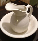McCoy Pitcher 7527 Wash Basin 7516 Large White Excellent Condition