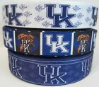 GROSGRAIN UNIVERSITY OF KENTUCKY RIBBON LOT FOR HAIR BOWS 3 YARDS