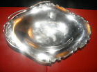Solid Silver swing handle large bread cake basket 1919