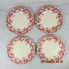 Johnson Brothers Strawberry Fair bread butter plates set 4 white pink berries