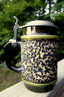 Scarce Jasba W Germany Mid Century Modern Beer Stein Pewter Top 1960s Excellent