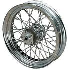 Drag Specialties Twisted Cut Chrome Spoke Set   11302W-HC9