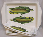 Four Long Dishes w HP Corn 1960s