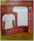 MENS THERMAL VEST T-SHIRT BRUSHED WITH HEAT TRAP UNDERWEAR IN 2 COLOURS