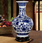 COLLECTIBLE CHINESE BLUE AND WHITE PORCELAIN VASE HAND-PAINTED DRAGON CQ50262