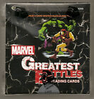 Marvel Greatest Battles factory sealed box of Trading cards from Rittenhouse