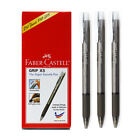 10p Faber Castell GRIP X5 05mm Black Ball Point Pen Office Stationery Supply