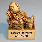 WORLD'S GREATEST GRANDPA - Paula Figurine From 1970 W-178 - Funny Message Statue