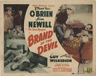 Brand of the Devil 1944 Original Movie Poster Western