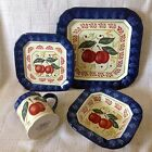 Certified International Nancy Green RED PEACH 4 Pcs place Setting Set