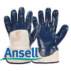 Ansell Hycron 27-607 Blue Nitrile Coated Safety Cuff Gloves All Sizes Pr Or Dz