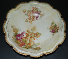Empire China Vintage Handpainted Grape Cluster Scalloped Gold Trim Serving Bowl