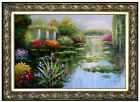 Framed Claude Monet Water Lily Pond 9 Repro, Hand Painted Oil Painting 24x36in