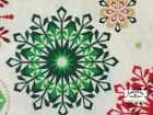 MD237 Snowflake Winter Christmas Holiday Season Red Green Cotton Quilt Fabric