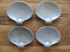 Wilton Columbia Armetale-  Set of 4 Footed Shell Ash Trays/Small Plate/Dish